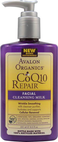 Facial Cleansing ml Brand: Avalon Organics Cleansing Milk, Facial Cleansing, Facial Skin Care, Natural Skin Care, Avalon Organics, Milk Cleanser, Recycled Bottles, Rosehip Oil, Beauty Care
