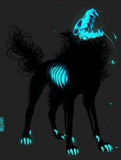Pin by mercedes on felines in 2019 criaturas de fantasía, ar Dark Fantasy Art, Fantasy Kunst, Fantasy Wolf, Fantasy Beasts, Dark Art, Mystical Animals, Mythical Creatures Art, Magical Creatures, Dark Creatures