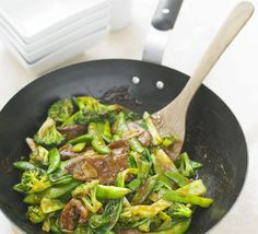 Beef Stir-Fry : Per Serving ~ 253 calories, protein 32g, carbohydrate 13g, fat 9 g, saturated fat 2g, fibre 5g, sugar 10g, salt 0.82 g