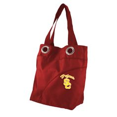 USC Trojans NCAA Color Sheen Tote Dark Red