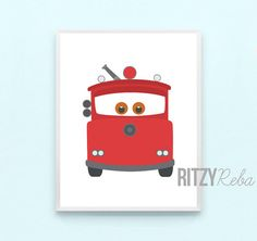 Disney Cars Nursery Boy Pixar Cars 2 Art Print Set of by RitzyReba Car Themed Parties, Cars Birthday Parties, 3rd Birthday, Car Nursery, Nursery Wall Art, Car Wall Art, Car Themes, Wall Decor Set, Pixar Movies