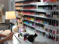 how to keep organized (nail polish) ... This is good for me i have so many nail polishes & i dont know were to put them o.O