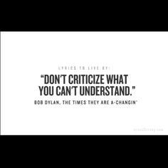 Bob Dylan. Lyrics to Live By.