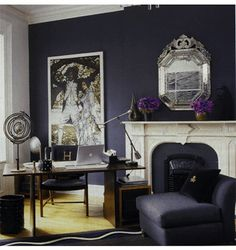 Dark color wall done right