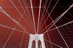 Philippe Sainte-Laudy Premium Thick-Wrap Canvas Wall Art Print entitled Brooklyn Bridge, None Canvas Frame, Canvas Wall Art, Wall Art Prints, Canvas Prints, Big Canvas, City Skyline Art, Destinations, Cool Wall Art, Orange Art