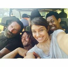 Andy, Norman, Lauren and Tyler on location last year filming season 5