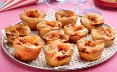 Cheesy Muffin Pizzas Recipe by Giada De Laurentiis