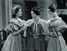 Maureen O'Sullivan, Greer Garson, and Marsha Hunt in Pride and Prejudice (1940)