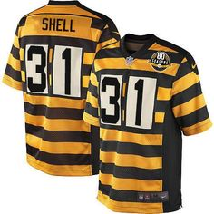 0389613e9c934 nfl jersey with elastic sleeves Nike Limited Gold Black Men s Jersey -  Customized Pittsburgh Steelers NFL Throwback Alternate Anniversary