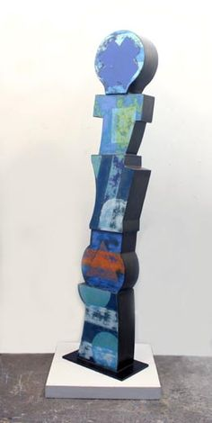 Richard Taylor, FIRST TAKE, Enamel and Varnish on Steel, 74 1/2 x 13 1/2 x 6""