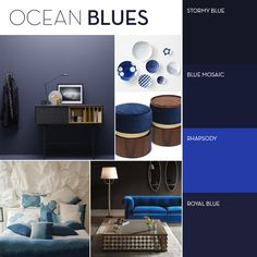 Stay up-to-date with the latest decorating trends, paint trends, interior paint design & renovation tips. Blue Mosaic, Moody Blues, Blue Check, Interior Paint, Color Trends, Interior Styling, Royal Blue, Blog, Painting