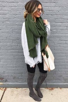 Cute Ways How to Wear a Scarf This Season ★ See more: http://glaminati.com/ways-how-to-wear-a-scarf/