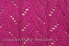 Braided Lace Stitch Pattern ⋆ Knitting Bee
