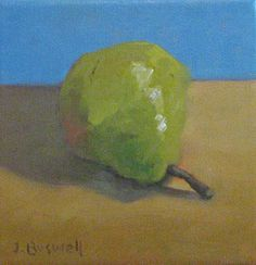 Bartlett Pear Original Oil Painting Kitchen by Jenniferboswell