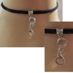 Silver Handcuffs Choker Necklace Handmade Adjustable Accessories NEW Fashion #Handmade #Choker https://www.ebay.com/itm/152865146100