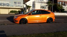 Orange  Ford focus ST3