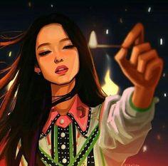 BLΛƆKPIИK⋆Jennie (fanart) - (PLAYING WITH FIRE) ~~amwricana