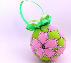 Sakura Kimekomi Ornament   Made to Order by OrnamentDesigns, $35.00
