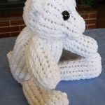 Loom knit a Teddy Bear - Free Loom Knitting Pattern Stuffed Animal