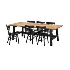SKOGSTA / NORRARYD Tafel met 6 stoelen IKEA