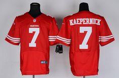 Men s Nike San Francisco 49ers  7 Colin Kaepernick Elite Jersey-Red 1764998b6