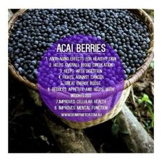 Health benefits of Açai Berries // @teatoxtips  Cleanse & nourish your body from the inside out with an all natural SkinnyMe teatox: www.skinnymetea.com.au  Follow us on Insta: @smtofficial x