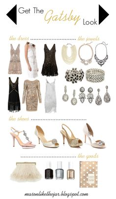 Get The Gatsby Look. ....I may need this for a school function in the future