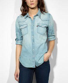 8f861a317a6500 Levi s Western Shirt - Brookly Light - Blouses  amp  Shirts Denim