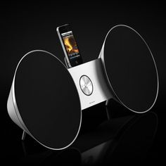 """Bang & Olufsen """"BeoSound Scatter around liberally in conjunction with a B remote and other products for superior picture and sound. Electronics Gadgets, Tech Gadgets, Cool Gadgets, Nail Dust Collector, Ipod Dock, Audio Design, Bang And Olufsen, Digital Clocks, Pop Bottles"""