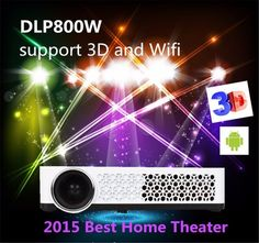 Best Newest 3D glasses Full HD Smart Android Mini Projector Proyector LED LCD WIFI Best Home Theater Beamer DLP Projektor 1080p. Wifi: Build-in Android 4.4 wifi system. Built-In Blu-ray,Built-In Speakers,Ceiling,Rear,Table Top Projection. DLP Link Active Shutter 3D, Built in 2D-3D,Blue-ray 3D. Display Technology:3 LED+DMD Projection System. Interface input:HDMI*2/PC-RGB/AV/USB/Audio Out/Micro-SD/Micro-USB.