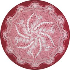 Gloxiniaeflora - Round Doily In Knitted Lace By Herbert Niebling - PDF - US Letter Paper Size