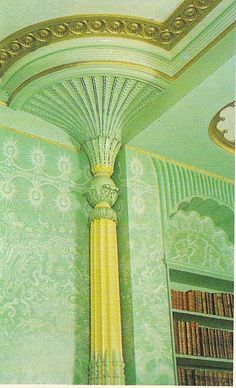 Detail of Columns in the Kings Apartments at Brighton Pavilion Brighton England, Brighton And Hove, Aston Hall, Carlton House, Royal Pavilion, English Castles, Royal Residence, Antique Interior, Cottage Homes