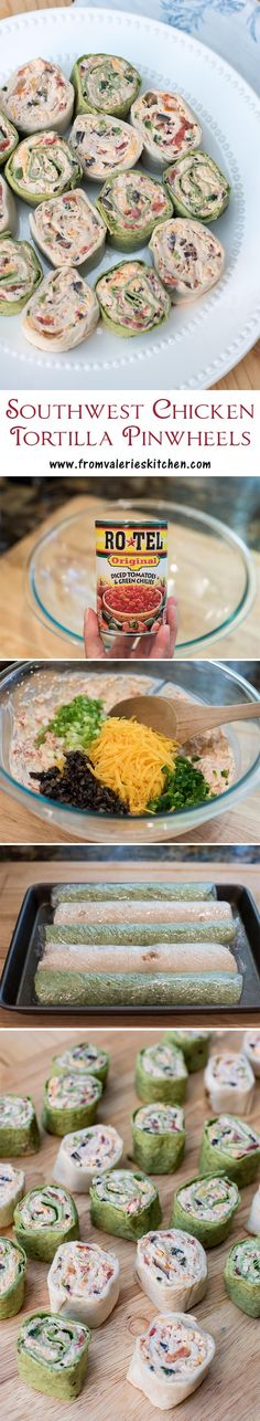 The classic party appetizer with a Southwest twist! A great make-ahead appetizer. ~ http://www.fromvalerieskitchen.com