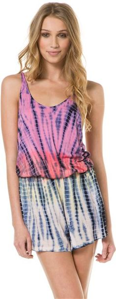 TIE DYE ROMPER > Womens > Clothing > Shorts & Rompers | Swell.com