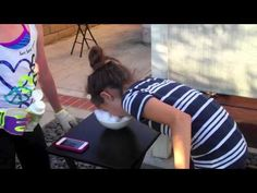 Inspired by Minute To Win It this tween girl tries this funny 60 second challenge called Nose Dive School Age Activities, Church Activities, School Games, Activities For Kids, Team Building Games, Team Games, Family Games, Games For Kids, Game Show Network