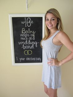 35 Ideas Baby Bump Week By Week Chalkboard Pregnancy Chalkboard Tracker, Baby Bump Chalkboard, Chalkboard Ideas, Pregnancy Announcement To Husband, Pregnancy Bump, Pregnancy Photos, 23 Weeks Pregnant Belly, 10 Weeks Baby, Babies First Words