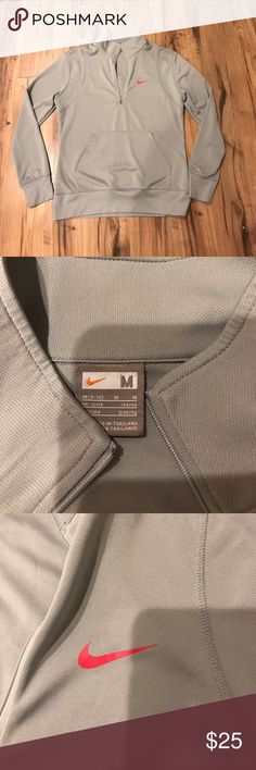 Nike gray pullover Nike gray pullover medium tags reads 8-10 I'm typically a medium fits true to my size great condition Nike Tops Sweatshirts & Hoodies