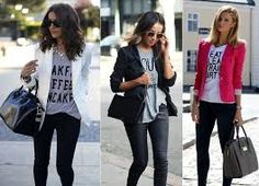 Resultado de imagem para t shirt feminina estilosa