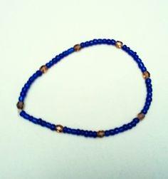 Bracelet perles bleues et dorées. Opale Isis, Christine Monsion
