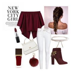 """nyc"" by alaskajuliet ❤ liked on Polyvore featuring Dolce&Gabbana, Aquazzura, Humble Chic, Tom Ford and MAC Cosmetics"