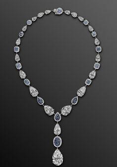 David Morris - diamond and sapphire necklace