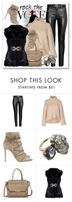 """""""Rock the Vote in Style"""" by andrejae ❤ liked on Polyvore featuring ONLY, Gianvito Rossi, Marni, Urban Expressions, Boohoo and rockthevote"""