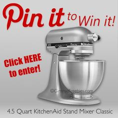 Crock-Pot Ladies Pin To Win: KitchenAid Stand Mixer Giveaway! – cannot do without one of these to make specialty carrot cake !!!