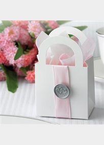 Gartner Studios Wedding Favor Boxes, White with Pink Ribbon, Diy Wedding Reception, Wedding Favor Boxes, Wedding Party Favors, Wedding Ideas, Wedding Stuff, Wax Seals, Dollar Stores, Gift Bags, Goody Bags