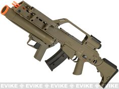 Evike Class I Custom H&K G36KV / AG36 Grenadier Airsoft AEG EBB Rifle by UMAREX w/ Integrated Scope - Dark Earth