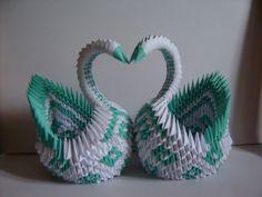 cisne gigante de origami papiroflexia