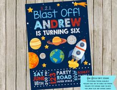 Hey, I found this really awesome Etsy listing at https://www.etsy.com/listing/268098852/outer-space-party-invitation