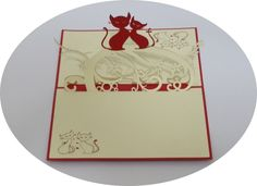 Two Cats - 3D Pop Up Cards - Greeting Cards - Ovid Gifts