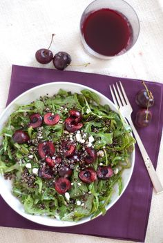 cherry arugula and quinoa salad from cookie and kate