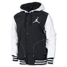 Men's Jordan Varsity Hybrid Hoodie Black/White